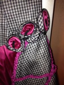 Dress- Rosette detail