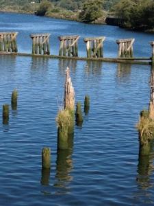 fallen pier