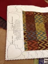 hearts drawn on fabric