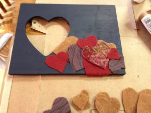 starting to place hearts