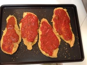 adding the sauce