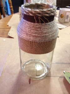 thin sparkly yarn