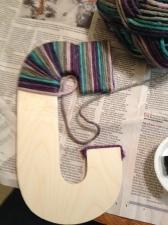 letter c yarn wrap start
