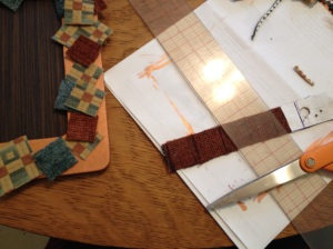 measuring and cutting squares
