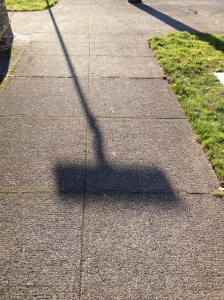 sign shadow