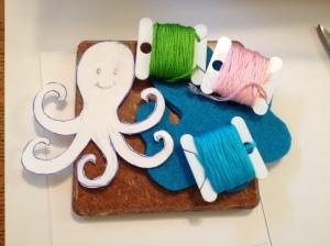 turquiose octopus