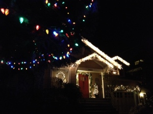 lit house