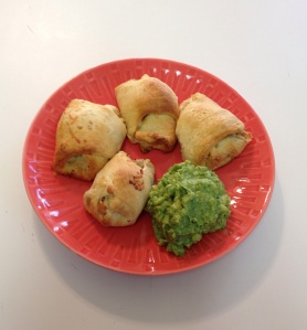 plated with guacamole