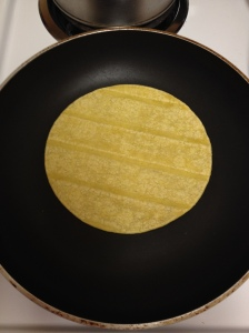 heating tortilla