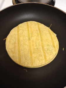 topped with tortilla