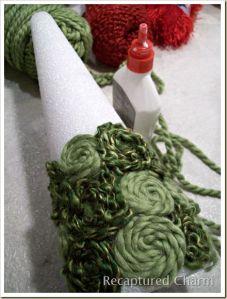 spiral yarn trees