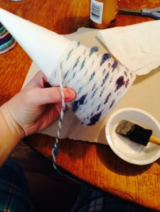 wrapping flecked thread