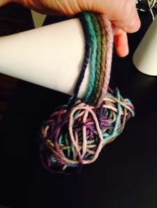 wrapping gradient yarn