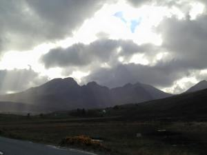 Cuillins in clouds