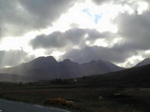 Cuillins in clouds