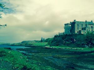 Dunvegan Castle from afar