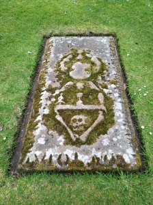 Creepy grave at Elgin Cathedral, Scotland
