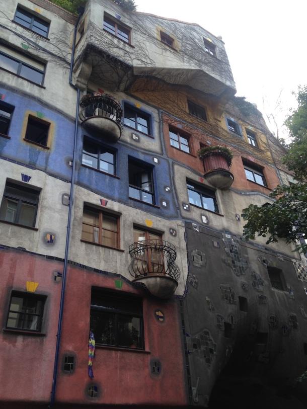 Hundertwasser apartment facade